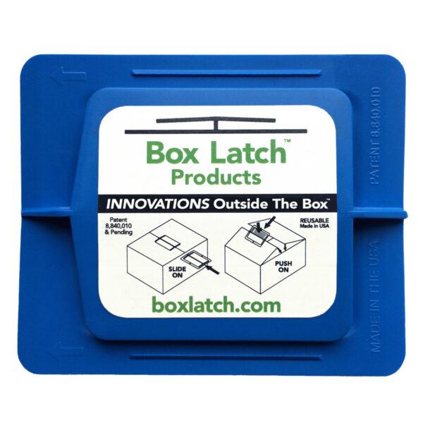 Box Latch - No Tape needed. Medium - Blue..