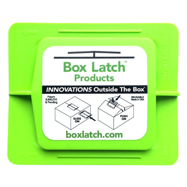Box Latch - Closing boxes without tape. Medium - green.