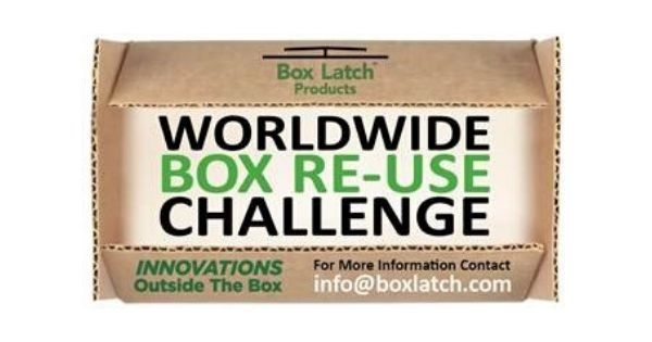 Box Latch - Closing boxes without tape. Box ReUse Challenge.