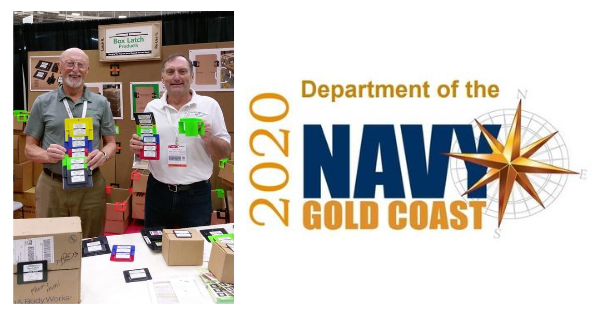 Box Latch - Closing boxes without tape. Navy Gold Coast virtual trade show.. Jack Wilson, James Wilson